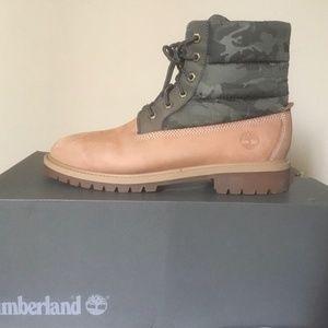 Timberland Premium 6 inch Quilt Boot Wheat NUBUCK